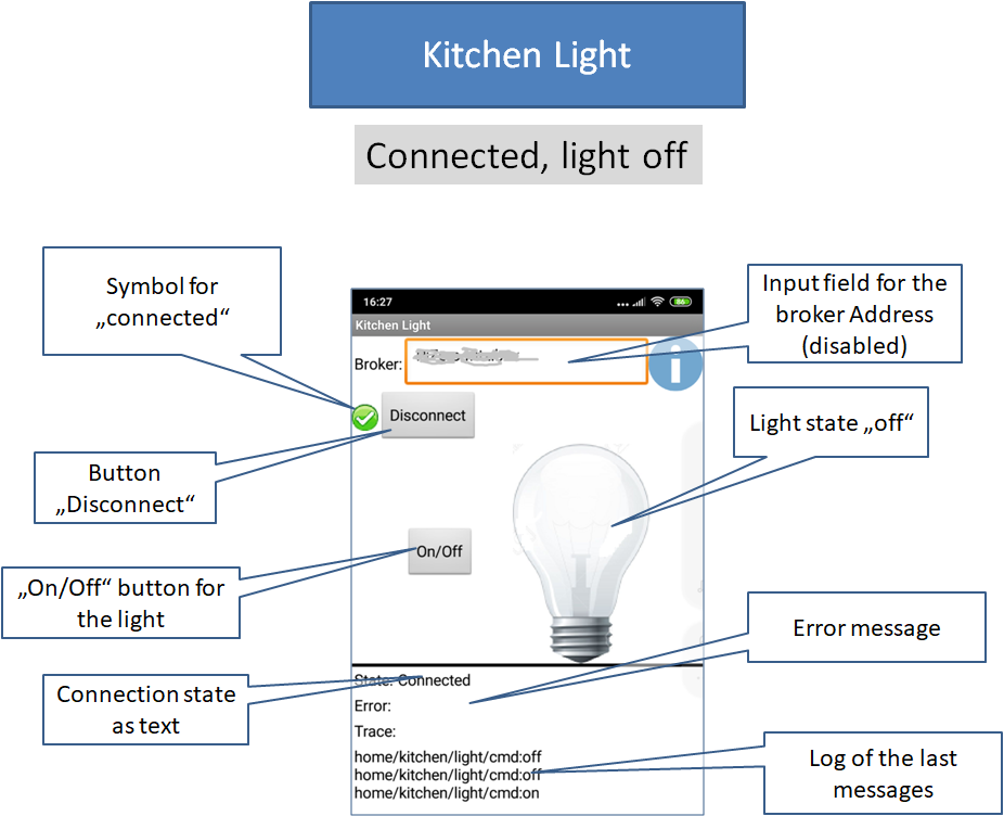 App MQTTKitchenLight